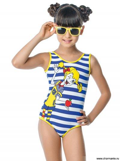 Купить Купальник для девочек слитный GS 061601 Anika, Charmante, мультиколор