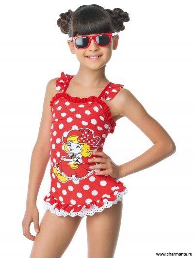 Купить Купальник для девочек слитный GS 071603 Aurita, Charmante, мультиколор