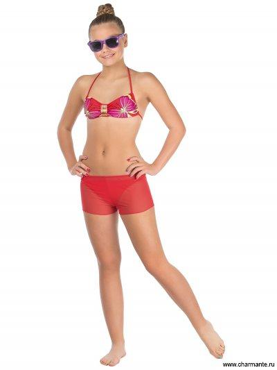 Купить Купальник для девочек (бюст, плавки, шорты) YBH 131605 Yasmin, Charmante, мультиколор
