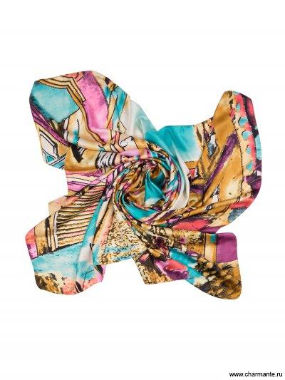 Купить Платок женский SHPA277, Charmante, бирюзовый/лиловый