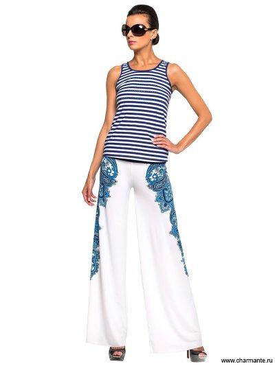 Комплект пляжный брюки+топ