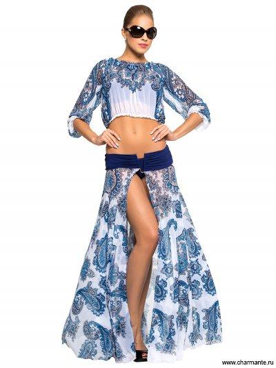 Комплект пляжный юбка+топ Charmante WY 041611 LG Barb
