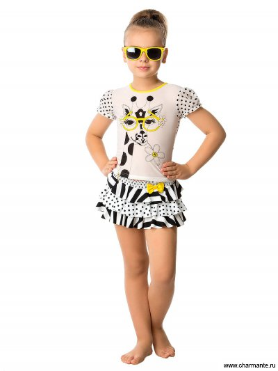 Пляжный комплект для девочек (юбка+топ) CY 011609 AF Christina от Charmante