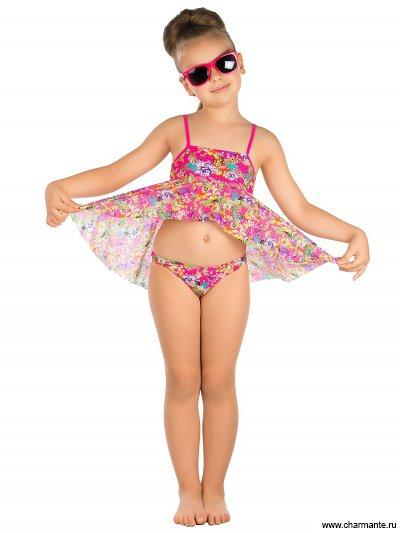 Пляжный комплект для девочек (топ+плавки) GPQ 031602 AF Harriet от Charmante