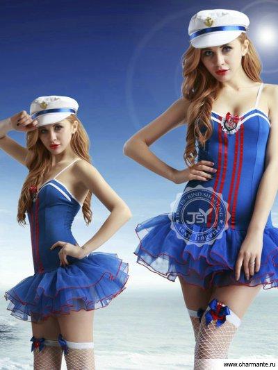 Комплект женский (платье, чулки, стринги, фуражка) комплект женский комбидресс стринги болеро фуражка чулки перчатки пистолет