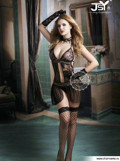 Комплект женский (комбидресс, чулки, перчатки) комплект женский комбидресс чулки перчатки
