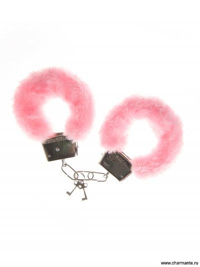 наручники (металл+иск.мех) размер: 17см ovo k1 розовый вибратор с клиторальным стимулятором