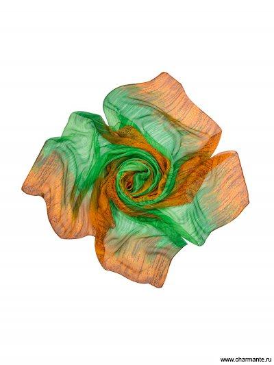 Купить Платок женский TISF355, Charmante, оранжевый/зелёный