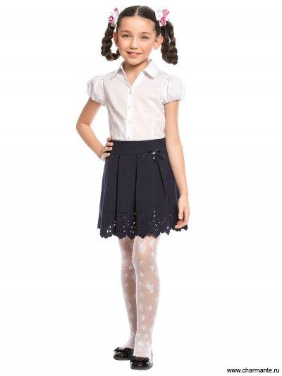 Блузка с коротким рукавом для средней школы