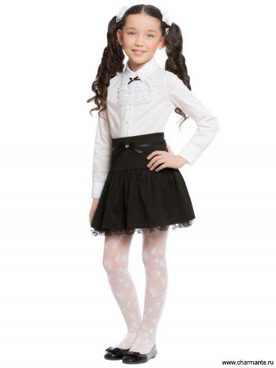 Блузка с жабо с длинным рукавом для младшей и средней школы Charmante ASA881601/ASB661610