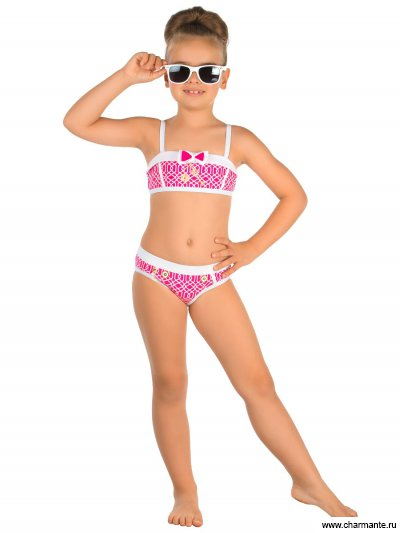 Купить Купальник для девочек GR 041609 AF Tabby, Charmante, розовый