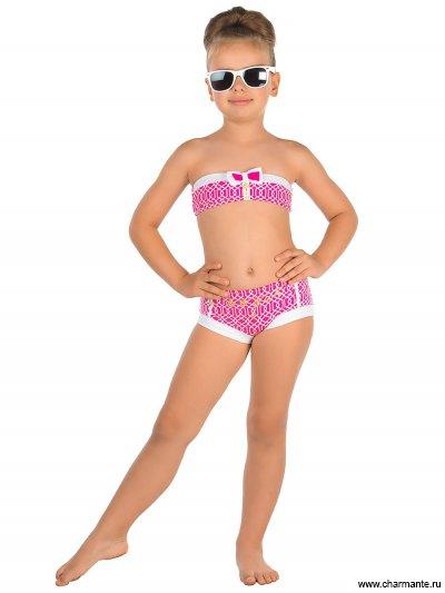 Купить Купальник для девочек GB 041610 AF Talita, Charmante, розовый