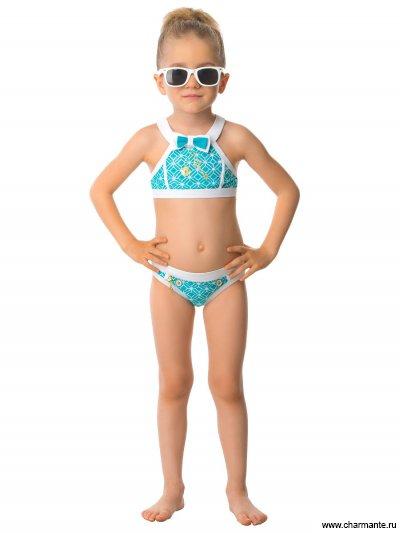 Купить Купальник для девочек GR 041601 AF Tammi, Charmante, голубой
