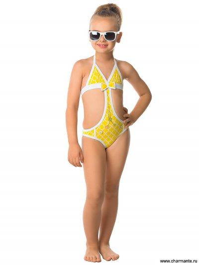 Купить Купальник для девочек (трикини) GI 041607 AF Tiara, Charmante, желтый