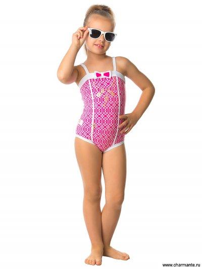 Купить Купальник слитный для девочек GS 041611 AF Tanzi, Charmante, розовый