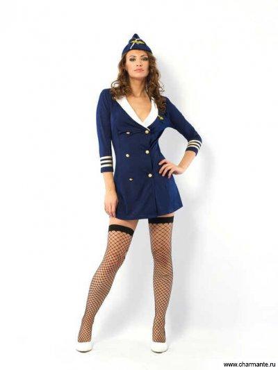 Комплект женский (Платье, головной убор, стринги, чулки) комплект женский платье стринги чулки