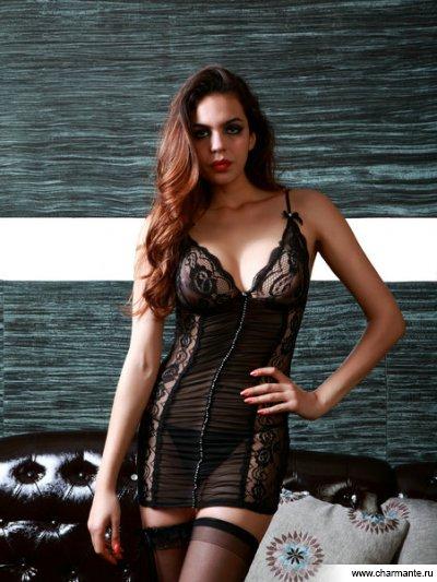 Комплект женский (платье, стринги, чулки) мини платье seamless strappy