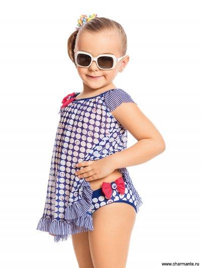 Купить Плавки+платье пляжное для девочек GPQ 011702, Charmante, мультиколор