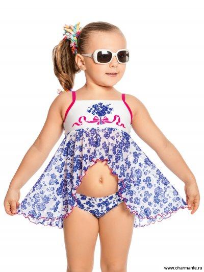Купить Плавки+платье пляжное для девочек GPQ 021701, Charmante, мультиколор