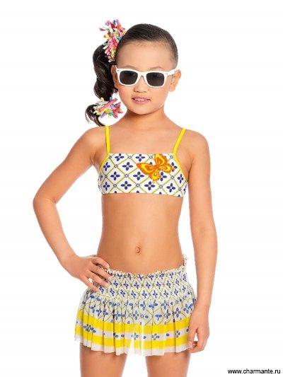 Купить Купальник для девочек+юбка GRU 031702, Charmante, мультиколор