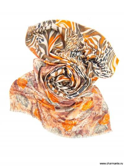 Купить Платок женский, размер 185x70 см SCVIST370, Charmante, оранжевый