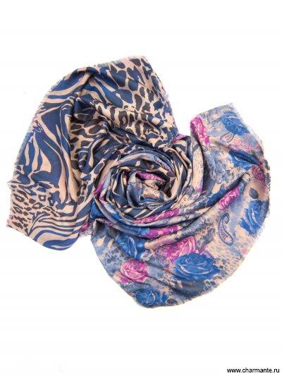 Купить Платок женский, размер 185x70 см SCVIST370, Charmante, синий