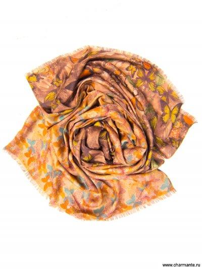 Купить Платок женский, размер 185x70 см SCVIST371, Charmante, коричневый/оранжевый