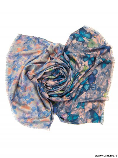 Купить Платок женский, размер 185x70 см SCVIST371, Charmante, синий
