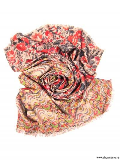 Платок женский, размер 185x70 см SCVIST372, Charmante, красный  - купить