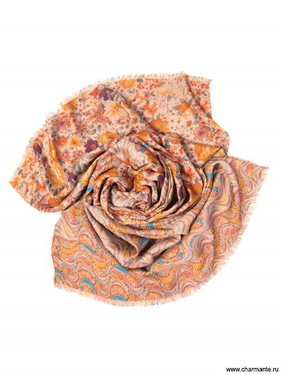 Купить Платок женский, размер 185x70 см SCVIST372, Charmante, оранжевый