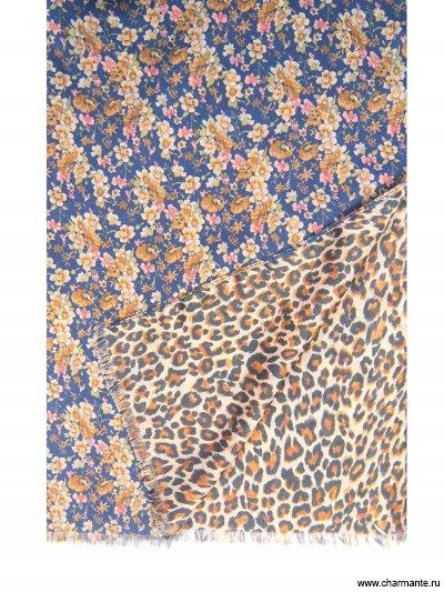 Купить Платок женский, размер 185x70 см SCVIST379, Charmante, синий/коричневый