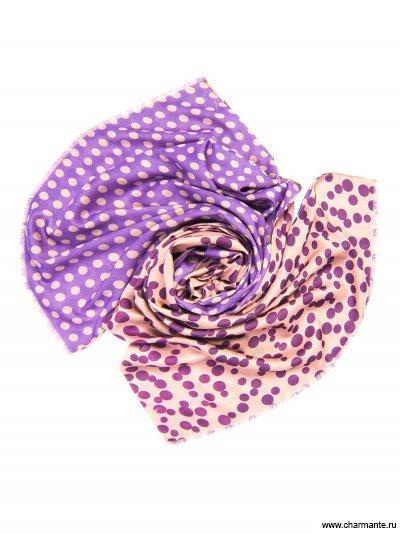 Купить Платок женский, размер 185x70 см SCVIST383, Charmante, бежевый/фиолетовый