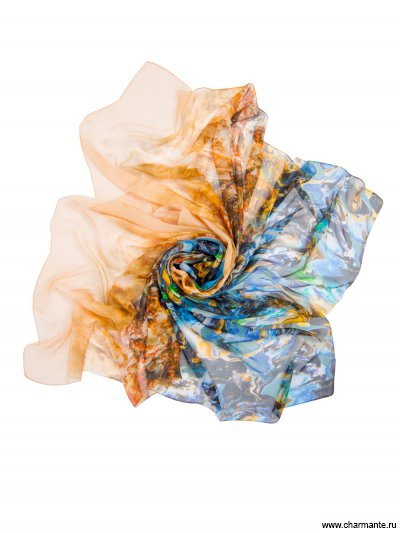 Купить Платок женский, размер 190x130 см SCSF396, Charmante, бежевый/синий