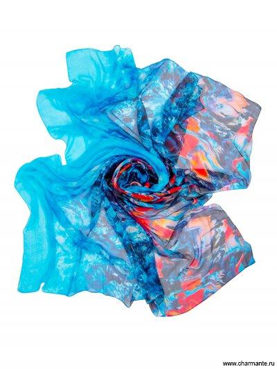 Купить Платок женский, размер 190x130 см SCSF396, Charmante, синий