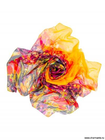 Купить Платок женский, размер 190x130 см SCSF396, Charmante, фуксия/оранжевый