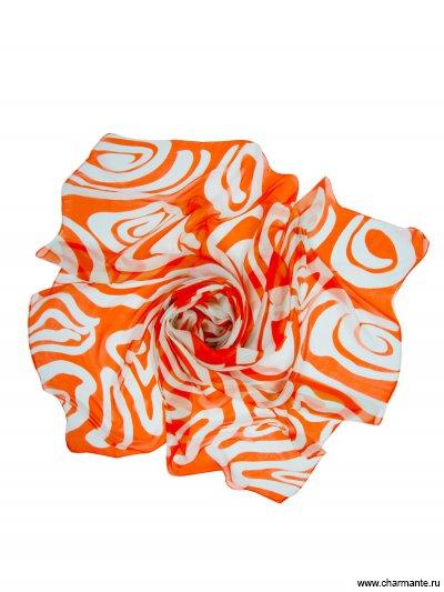 Купить Платок женский, размер 180x110 см SCSF398, Charmante, оранжевый/голубой