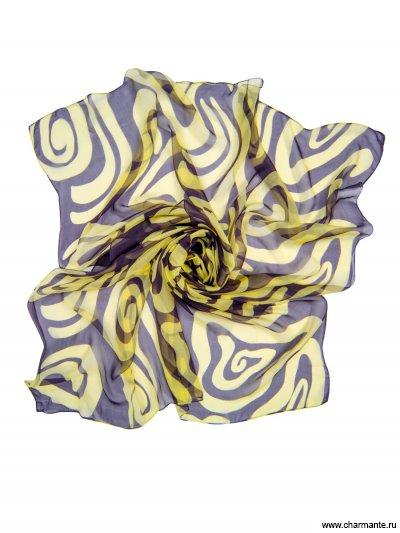 Купить Платок женский, размер 180x110 см SCSF398, Charmante, тёмно-синий/бежевый