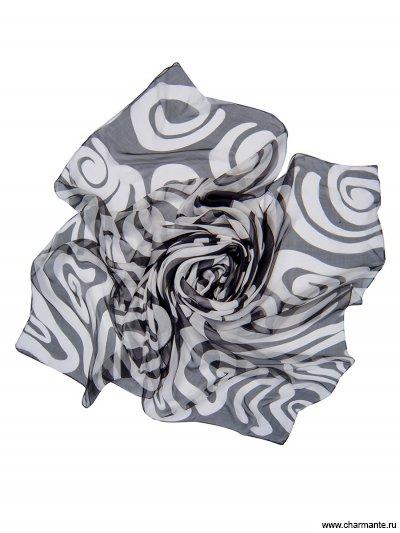 Купить Платок женский, размер 180x110 см SCSF398, Charmante, чёрный/белый