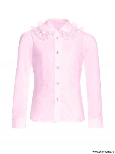 Блузка с длинным рукавом для младшей и средей школы