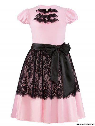 Купить Комплект для девочек (топ, юбка) PRGk061615, Charmante, розовый