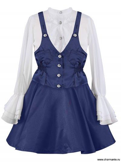 Костюм для девочек (блузка, юбка, жилет) PRGt061612 от Charmante