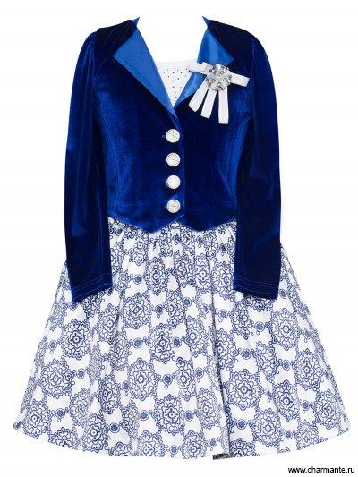 Комплект для девочек (топ, юбка, жакет) PRGt051604 от Charmante