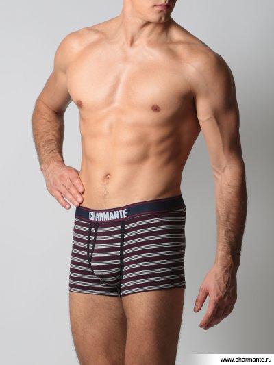 Купить Трусы-боксеры мужские ICMBX 681604, Charmante, серый/бордовый