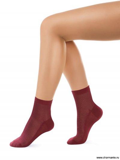 Купить Носки женские хлопок SCHG-1619, Charmante, бордовый