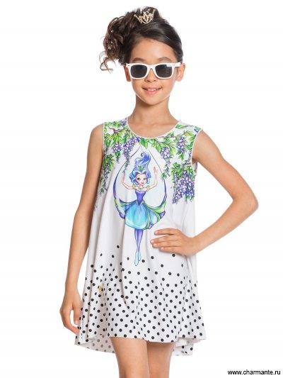 Купить Платье пляжное для девочек GQ 021707AF White Fairy, Charmante, мультиколор