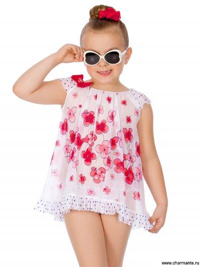 Купить Плавки+платье пляжное для девочек GPQ 031804, Charmante, мультиколор