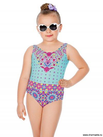 8612574fe1d9c Купальник слитный для девочек GS 061805 Быстрый просмотр Детский купальник  для девочки в бассейн