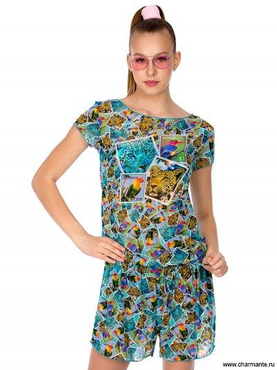 Купить Комбинезон пляжный для девочек-подростков YO 101807, Charmante, мультиколор