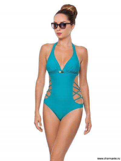 Купить Купальник женский слитный WPI291804, Charmante, морская волна