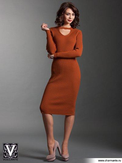Купить Платье VPD021729, Charmante, терракотовый